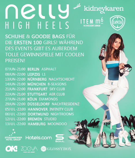 Fashion Week: No, Nelly High Heels Tour: Yes
